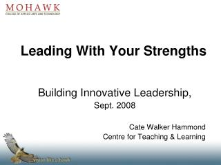 Leading With Your Strengths