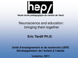 Neuroscience and education:  bringing them together