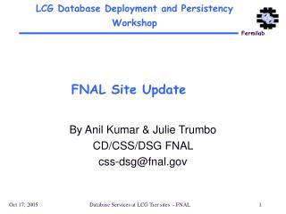 FNAL Site Update