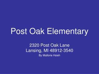 Post Oak Elementary