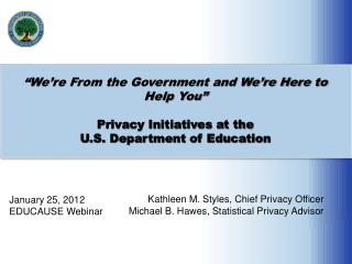 January 25, 2012 EDUCAUSE Webinar