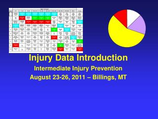 Injury Data Introduction Intermediate Injury Prevention August 23-26, 2011 – Billings, MT