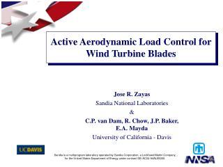 Active Aerodynamic Load Control for Wind Turbine Blades