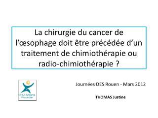 Journées DES Rouen - Mars 2012