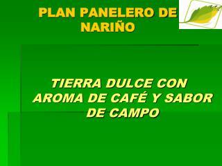 PLAN PANELERO DE  NARIÑO