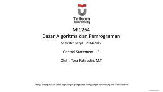 MI1264 Dasar Algoritma dan Pemrograman