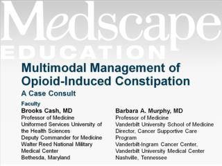 Multimodal Management of Opioid-Induced Constipation