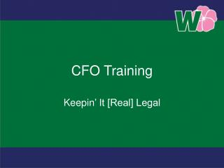 CFO Training