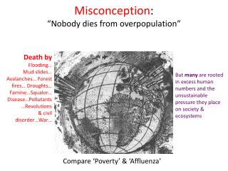 Misconception : �Nobody dies from overpopulation�