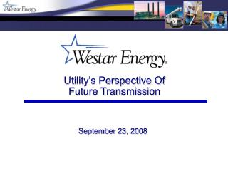 Utility's Perspective Of Future Transmission