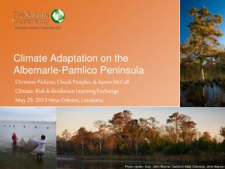 Climate Adaptation on the Albemarle-Pamlico Peninsula