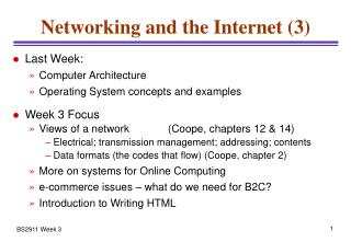 Networking and the Internet (3)
