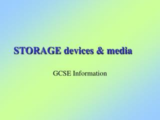 STORAGE devices & media