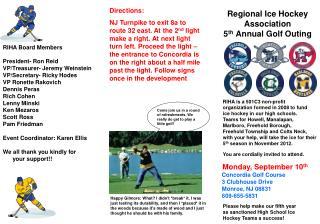 Regional Ice Hockey Association  5 th  Annual Golf Outing