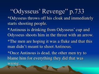 �Odysseus� Revenge� p.733