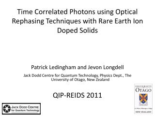 Time Correlated Photons using Optical Rephasing Techniques with Rare Earth Ion Doped Solids