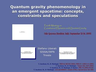 Quantum gravity phenomenology in an emergent spacetime: concepts, constraints and speculations