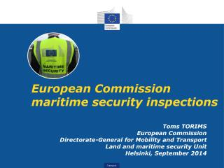 European Commission maritime security inspections