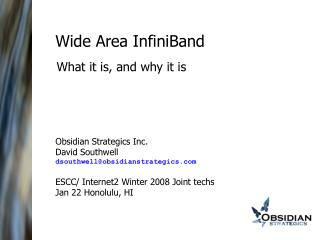 Wide Area InfiniBand