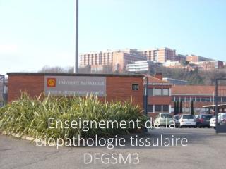 Enseignement de la  biopathologie  tissulaire DFGSM3