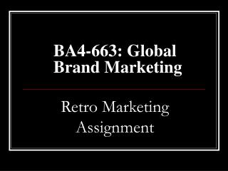 BA4-663: Global Brand Marketing