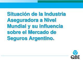 Industria Aseguradora a Nivel Mundial.