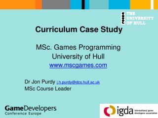 Curriculum Case Study