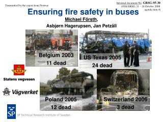 Ensuring fire safety in buses