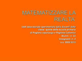 UdA laboratoriale sperimentata dalle docenti delle classi  quinte della scuola primaria