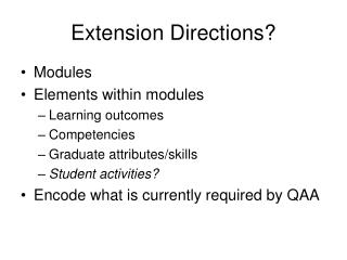 Extension Directions?