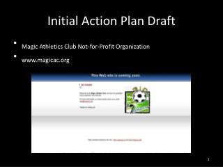 Initial Action Plan Draft