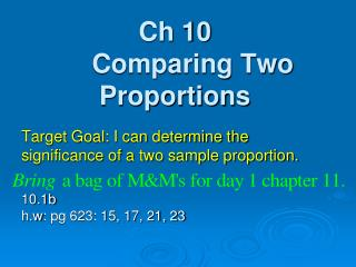 Ch 10 Comparing Two Proportions