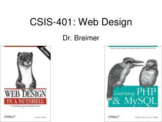 CSIS-401: Web Design