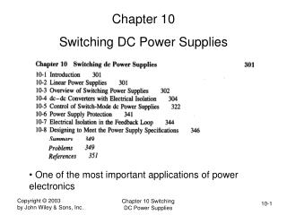 Chapter 10 Switching DC Power Supplies