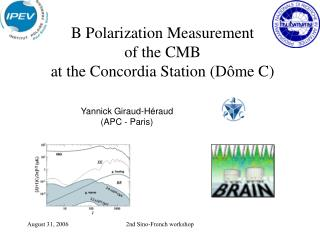 B Polarization Measurement of the CMB at the Concordia Station (D�me C)