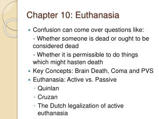 Chapter 10: Euthanasia