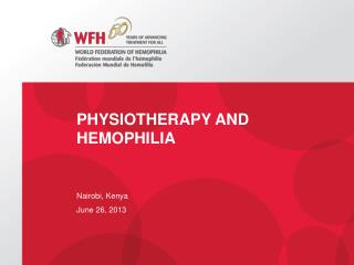 Physiotherapy and hemophilia