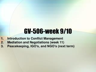 GV-506-week 9/10