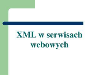 XML w serwisach webowych