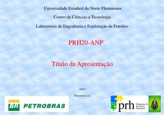 Universidade Estadual do Norte Fluminense Centro de Ciências e Tecnologia