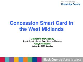 Concession Smart Card in the West Midlands