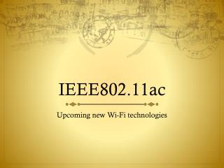 IEEE802.11ac