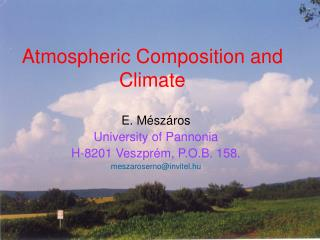 Atmospheric Composition  and  Climate