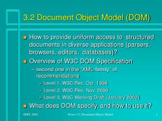 3.2 Document Object Model DOM