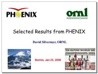 Selected Results from PHENIX