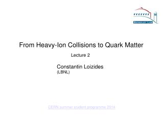 From Heavy-Ion Collisions to Quark Matter