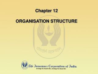 Chapter 12 ORGANISATION STRUCTURE
