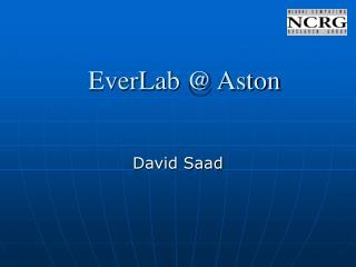 EverLab @ Aston