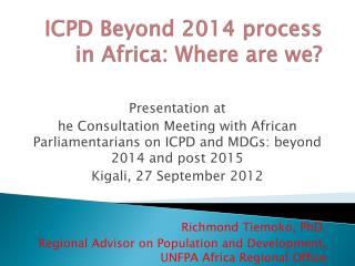 ICPD Beyond 2014 process in Africa: Where are we?