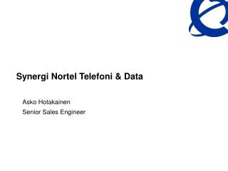 Synergi Nortel Telefoni  Data